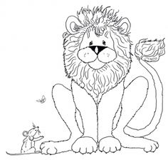 The Mouse Speaks To Lion Coloring Page From And Category Select 28448 Printable Crafts Of Cartoons Nature Animals Bible