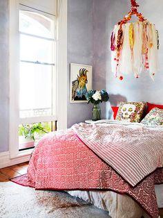 interiors, interior design, home decor, decorating ideas, bedroom inspiration, eclectic spaces