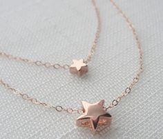 Superstar Necklace - I love rose gold and stars.