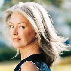 Gray hair does not have to short!  www.squidoo.com/...  #styles #gray #grey #hair #aging #gracefully #silver #going