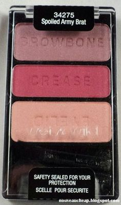 Wet n Wild Tough Girl collection limited edition Coloricon Eyeshadow Trio in Spoiled Army Brat