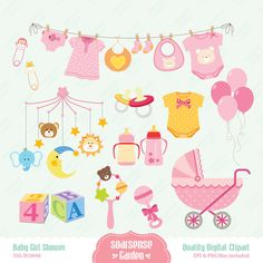 Hey, I found this really awesome Etsy listing at https://www.etsy.com/listing/161076363/baby-girl-shower-digital-clipart