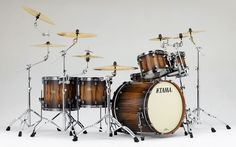 TAMA Starclassic Bubinga Reserve Drums with a Smoky Satin Walnut finish