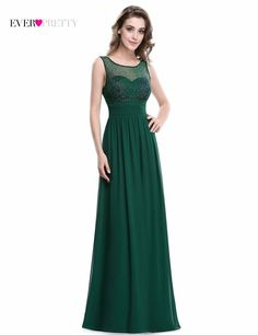 25fc92d6d1 Elegant Long Evening Dress Ever pretty 2017 Real Picture Green Chiffon  A-Line Sleeveless Beadings Evening Party Gowns