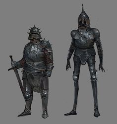 ArtStation - Thick and thin:D, The Aodhan Fantasy Concept Art, Fantasy Character Design, Fantasy Armor, Medieval Fantasy, Character Concept, Character Art, Fantasy Monster, Monster Art, Fantasy Inspiration