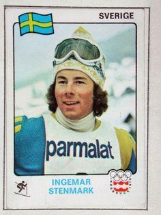 Ingemar Stenmark SWE World Cup Skiing, Alpine Skiing, Vintage Ski, Winter Games, Sports Stars, Tennis Players, Nostalgia, Baseball Cards, Sweden