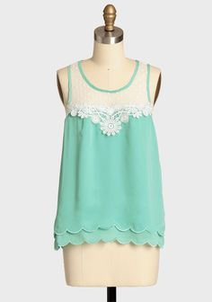 so sweet...Spirited Occasion Scalloped Top | Modern Vintage Tops