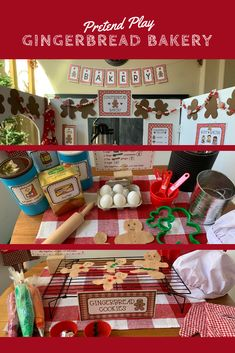 holiday themed printables and a few extra kitchen items. bake up some yummy cookies, muffins, and lattes as they pretend play in the dramatic play center. Dramatic Play Themes, Dramatic Play Area, Dramatic Play Centers, Preschool Dramatic Play, Preschool Christmas, Christmas Activities, Role Play Areas Eyfs, Theme Noel, Play Centre