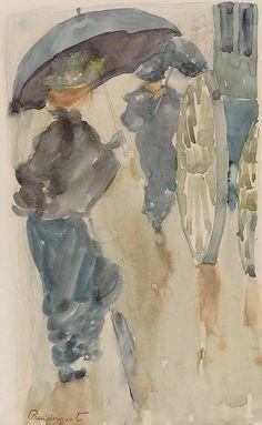 Rainy day, Maurice Brazil Prendergast. American (1859 - 1924)