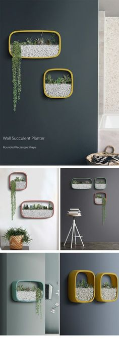 Geometric Wall Planters Fantastic Wall Arts #homedecoraccessories