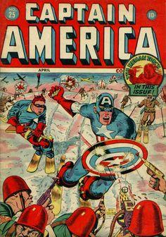 Captain America Comics # 25 by Syd Shores