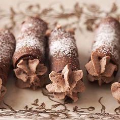 Homemade Chocolate Cannoli