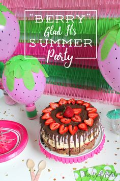 "Create a ""Berry"" Glad It's Summer Party! Make a layered ice cream cake that will wow everyone! Make the recipe and put together the crafts for this fun theme."