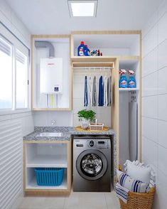 Outdoor Laundry Rooms, Laundry Decor, Laundry Room Organization, Laundry Room Design, Bedroom Bed Design, Home Room Design, House Design, Laundy Room, Coffee Bar Home