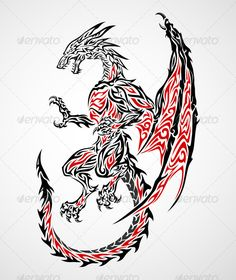 Dragon Tattoo 2 #GraphicRiver Illustration of dragon tattoo in tribal style. This image is a vector illustration and can be scaled to any size without loss of resolution. Included are .eps and .ai file. You will need a vector editor such as Adobe Illustrator or Coreldraw to use this file. All works were created in adobe illustrator. Created: 20August12 GraphicsFilesIncluded: TransparentPNG #VectorEPS #AIIllustrator Layered: No MinimumAdobeCSVersion: CS Tags: animal #claw #creature #dark…