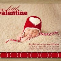 12 Valentine Birth Announcements to Fall in Love With | Babble #valentine #birthannouncements