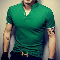 Hot Sale Fashion Solid V-Neck Men's T Shirt 2017 Summer Short Sleeve Casual T-Shirt Men Cotton Slim Fit Mens Top Tees Shirt 5XL