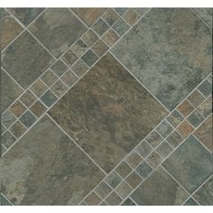 Shop Style Selections Aspen Sunset Glazed Porcelain Mosaic Square Indoor/Outdoor Square Accent Tile (Common: 12-in x 12-in; Actual: 11.73-in x 11.73-in) at Lowes.com