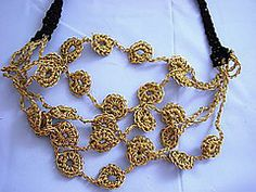 Ravelry: Gold Coin Necklace pattern by Donna Collinsworth.. Free pattern!