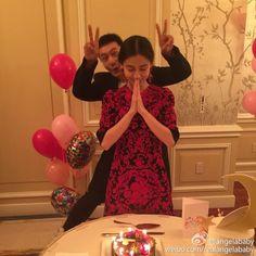 Angelababy and Huang xiaoming ❤