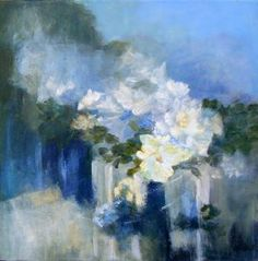 """Saatchi Art Artist Aase Lind; Painting, """"FLOWERS in Blue no 3"""" #art - SOLD TODAY!"""