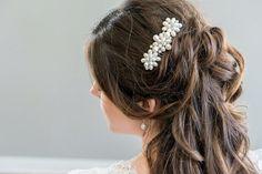 Bridal Hair Comb Freshwater Pearl Bridal by SarahWalshBridal