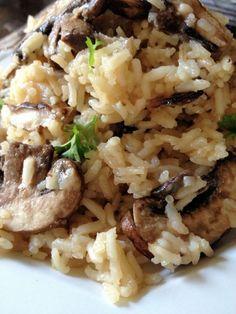 Mushroom Parmesan Rice