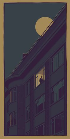 Long, Hot Summer Nights Illustration part of the Nighttime Series. - liam devereux 2016
