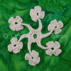 Giant Shamrock Flake Instructions - free crochet pattern