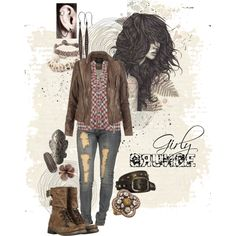 girly grunge, created by crazyfish on Polyvore, definitely up my alley!