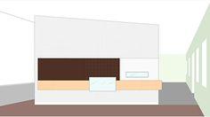 Sketch perspektive bar, Restaurang Hjerta, 3dO arkitekter.