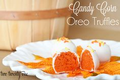 two twenty one: Candy Corn Oreo Truffles {Oreo Truffles}