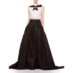 Carolina Herrera Long A-Line Silk Skirt ($2,490) ❤ liked on Polyvore featuring skirts, carolina herrera, dresses, black, silk maxi skirt, long silk skirt, flared skirt, long maxi skirts and ruched maxi skirt