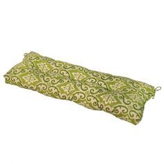 Greendale Home Fashions 44 inch Indoor/Outdoor Swing/Bench Cushion, Green Ikat Patio Bench Cushions, Outdoor Cushions And Pillows, Patio Seating, Patio Chairs, Outdoor Blanket, Lawn Furniture, Outdoor Furniture, Furniture Decor, Colourful Cushions