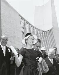 Prinses Grace en Prins Rainier van Monaco 22 juni 1958 Expo '58 Brussel