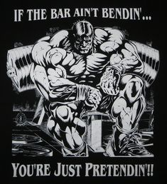 If the bar aint Bending your just pretending Powerlifting Shirts, Powerlifting Quotes, Powerlifting Motivation, Training Motivation, Fitness Motivation, Gym Workout Tips, At Home Workouts, Bodybuilding Logo, Gym Singlets