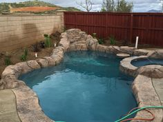 My backyard remodel. Another step closer.. Got her filled up this morning!