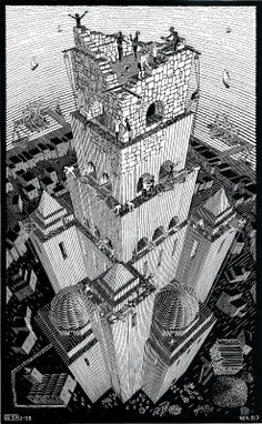 Tower of Babel - woodcut 1928
