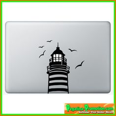 """Leuchtturm 2 Apple"" Aufkleber Sticker für Macbook Air 11 13, Macbook skin 13, 15, 17 Zoll inch Apple Notebook Aufkleber ohne Hintergrund Tattoo Vinyl PEGATINA Apple Mac: Amazon.de: Auto"