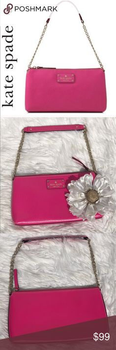 SALE kate spade Pink Wellesley Byrd Crossbody Gorgeous  NWOT kate spade Pink Wellesley Byrd Crossbody Bag. Perfectly sized for all you goodies. Great summer color to match all your outfits see photo for details. Great Gift for that Loved one or must have Gift for yourself. kate spade Bags Crossbody Bags