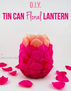 Repinned:  #DIY Floral Lantern made with plastic spoons!