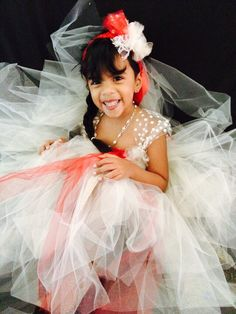 Beige and red pretty Tutu for Christmas or any special occasion! In stock by Koshlie Tutus!!!!