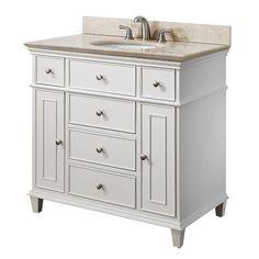 White Bathroom Vanity 36 Inch | Kids Bathroom | Pinterest | White Bathroom  Vanities, White Bathrooms And Bathroom Vanities
