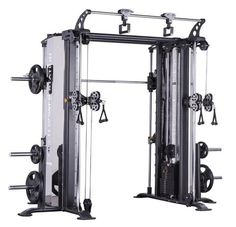 Smith Machine With Cable Crossover for Sale Gym Workouts, At Home Workouts, Training Workouts, Workout Exercises, Pull Up Station, Home Gym Machine, Mini Gym, Cable Machine, Cable Crossover Machine