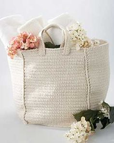 Crocheted Grocery Bag from Lily Sugar'n Cream