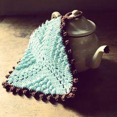 ByHaafner, crochet, potholder, vintage, japanese crochet, teapot