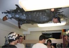 As far as duct tape repairs go, this is pretty extreme...