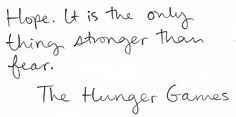 Favorite quote from Hunger Games