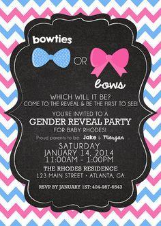 Gender Reveal Baby Shower Invitation | best stuff