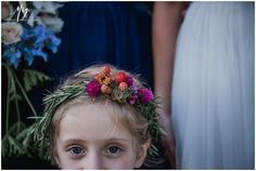 Rosemary and berry crown, flower girl, Muddy Feet Flower Farm, Katie Slater Photography